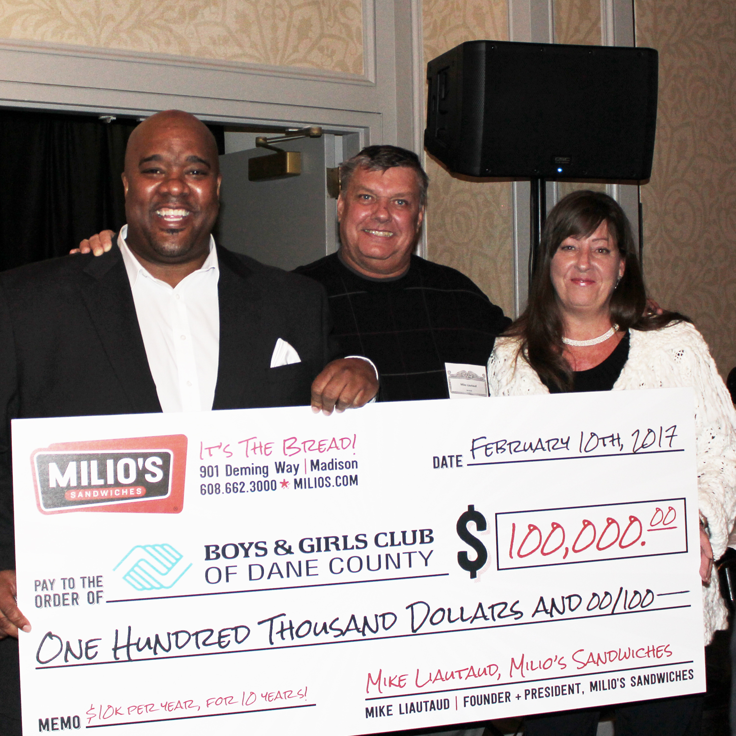 Milio's Big Mike and Michael Johnson Boys and Girls Club