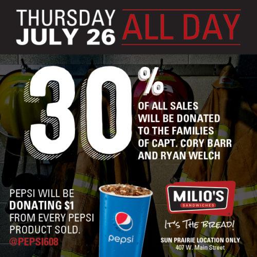 Milios 30% Donation