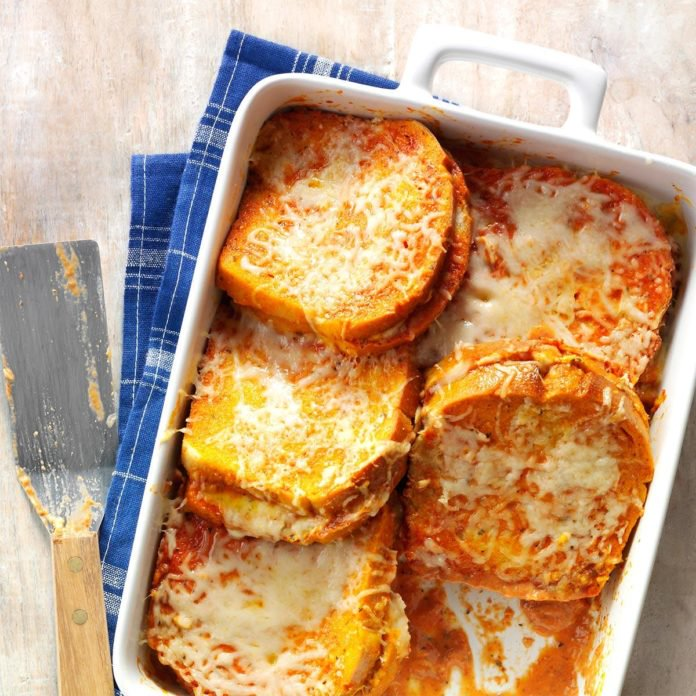 Grilled Cheese and Tomato Soup Bake
