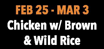 Chicken w/ Brown & Wild Rice