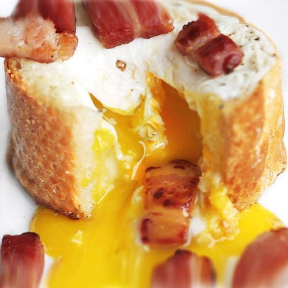 Bacon Egg Baguette Breakfast